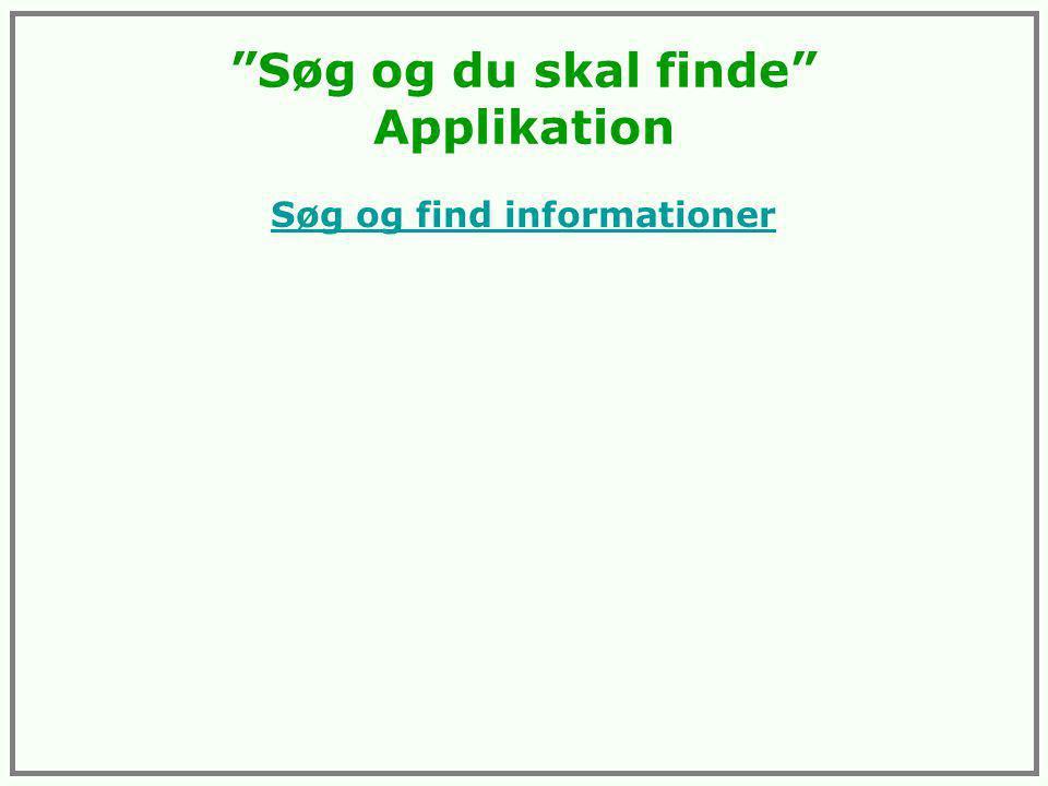 Søg og du skal finde Applikation Søg og find informationer