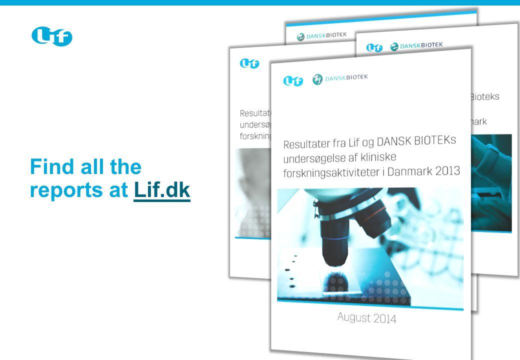 Sektion-slide Brug dette slide, når der kommer et nyt emne i præsentationen Find all the reports at Lif.dkLif.dk