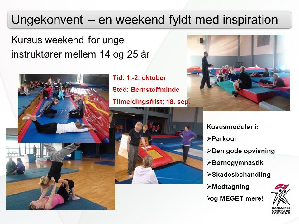 Ungekonvent – en weekend fyldt med inspiration Kursus weekend for unge instruktører mellem 14 og 25 år Tid: 1.-2.