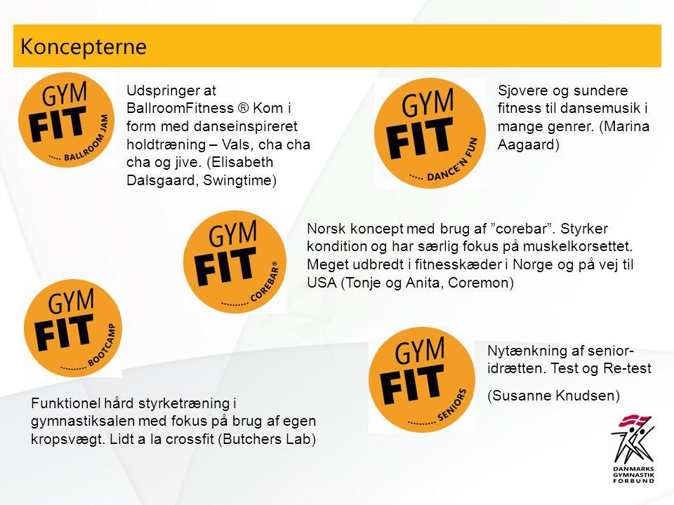Koncepterne Funktionel hård styrketræning i gymnastiksalen med fokus på brug af egen kropsvægt.