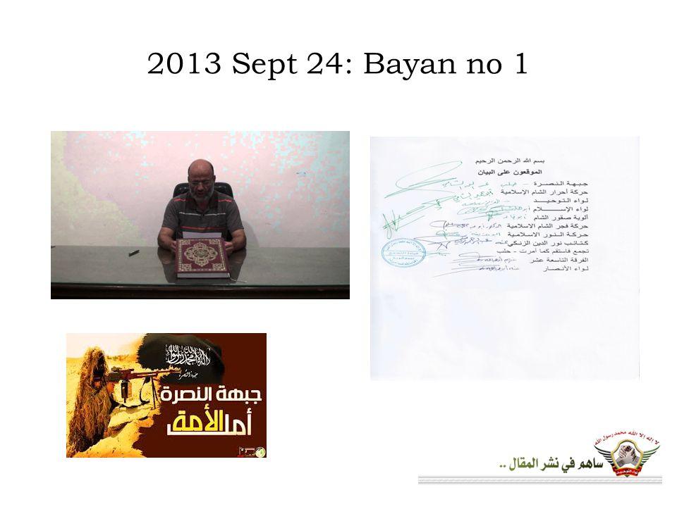 2013 Sept 24: Bayan no 1
