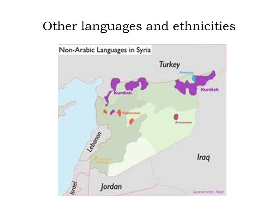 Other languages and ethnicities