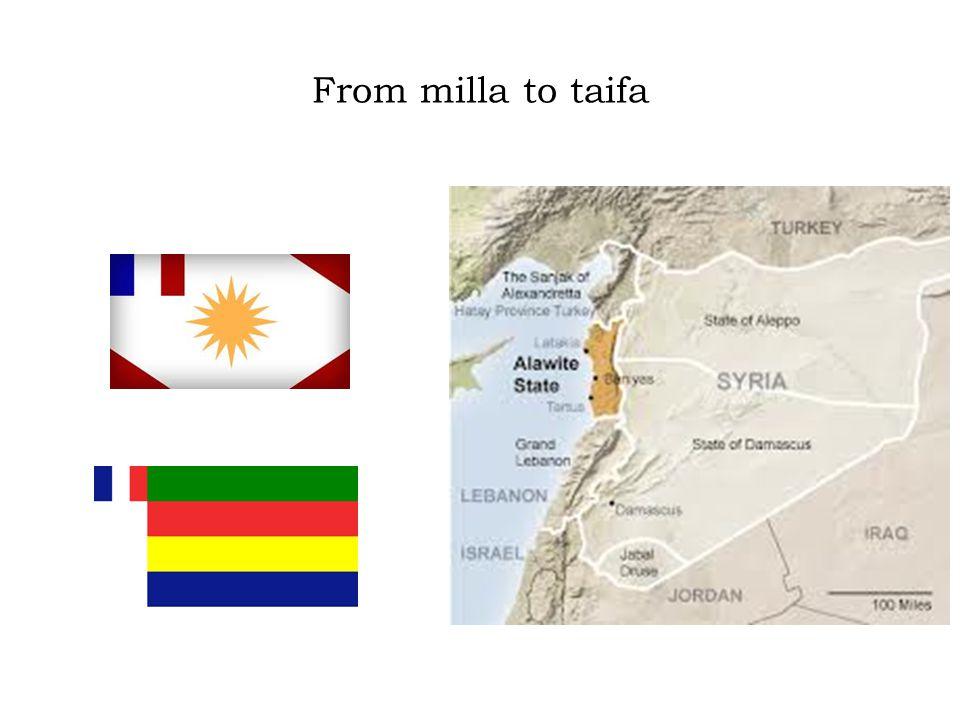 From milla to taifa