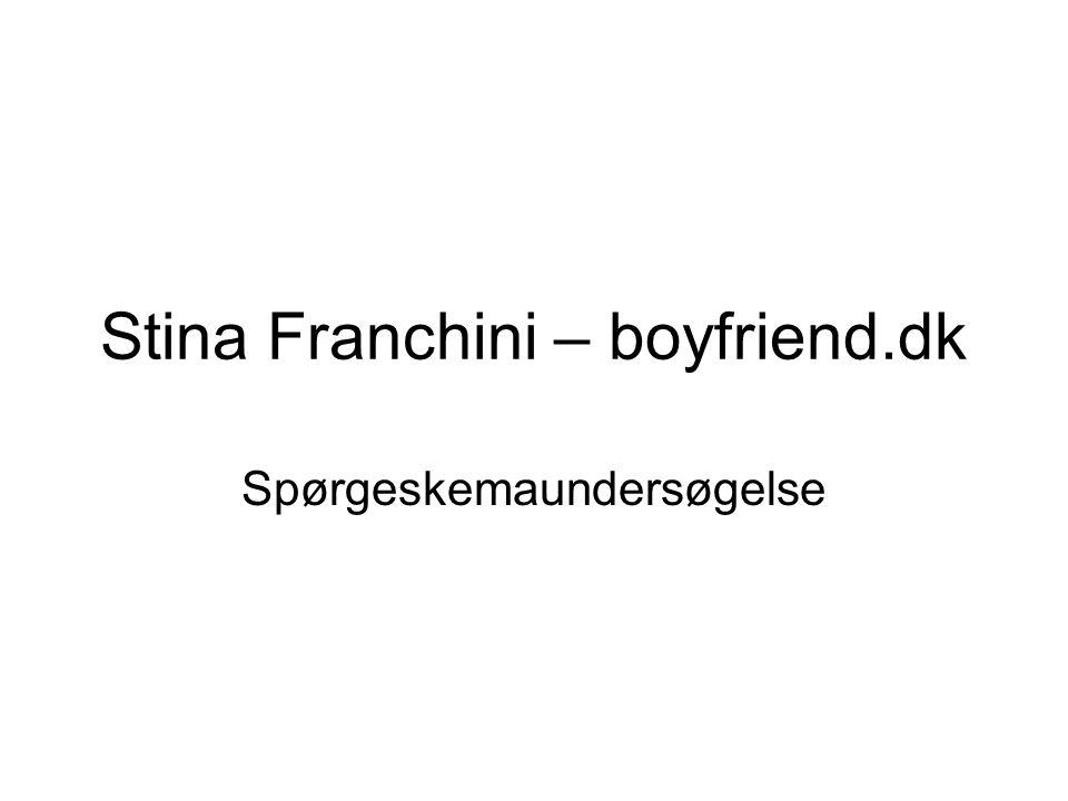 Stina Franchini – boyfriend.dk Spørgeskemaundersøgelse