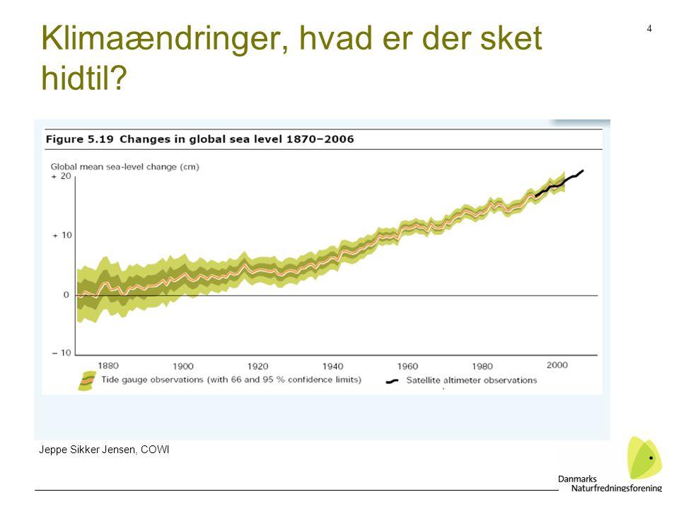 4 Klimaændringer, hvad er der sket hidtil Jeppe Sikker Jensen, COWI
