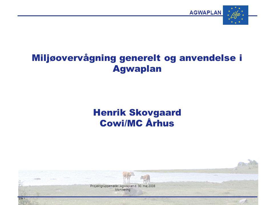 AGWAPLAN Projektgruppemøde i Agwaplan d. 30.