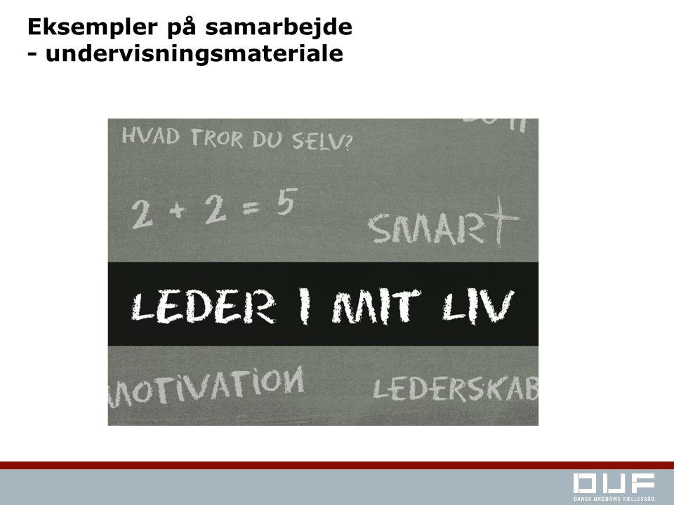 Eksempler på samarbejde - undervisningsmateriale