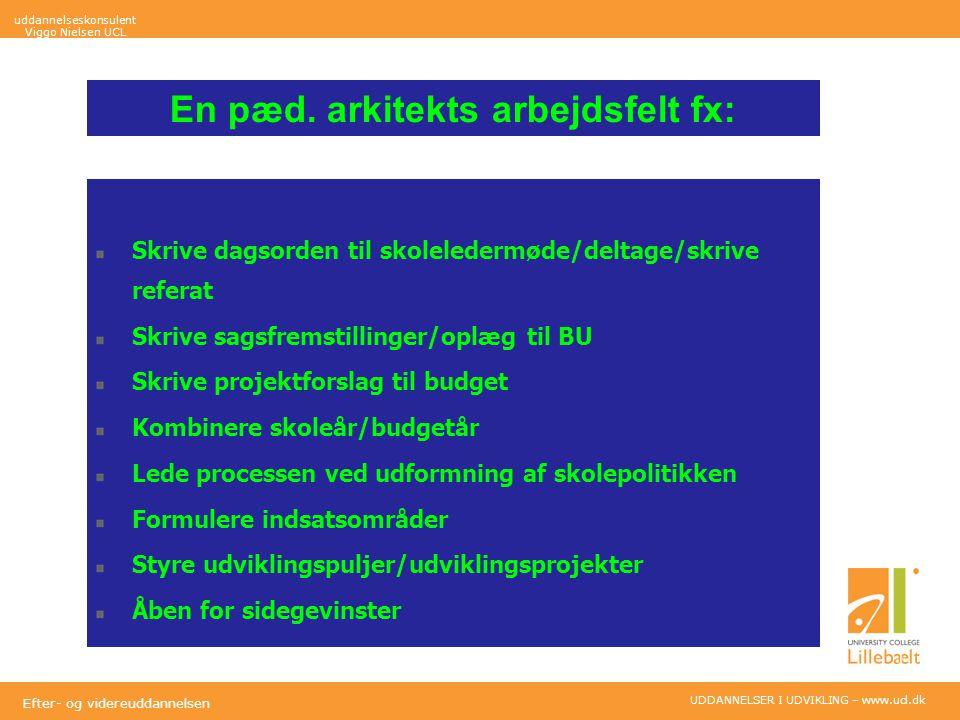UDDANNELSER I UDVIKLING – www.ucl.dk Efter- og videreuddannelsen En pæd.