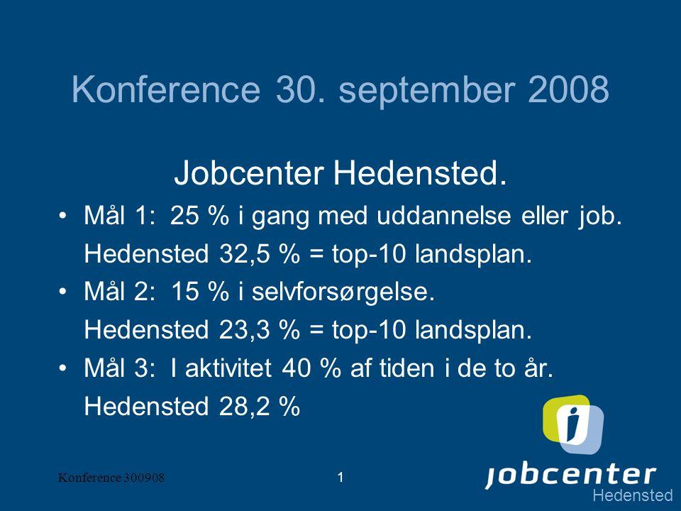 Hedensted Konference 3009081 Konference 30. september 2008 Jobcenter Hedensted.