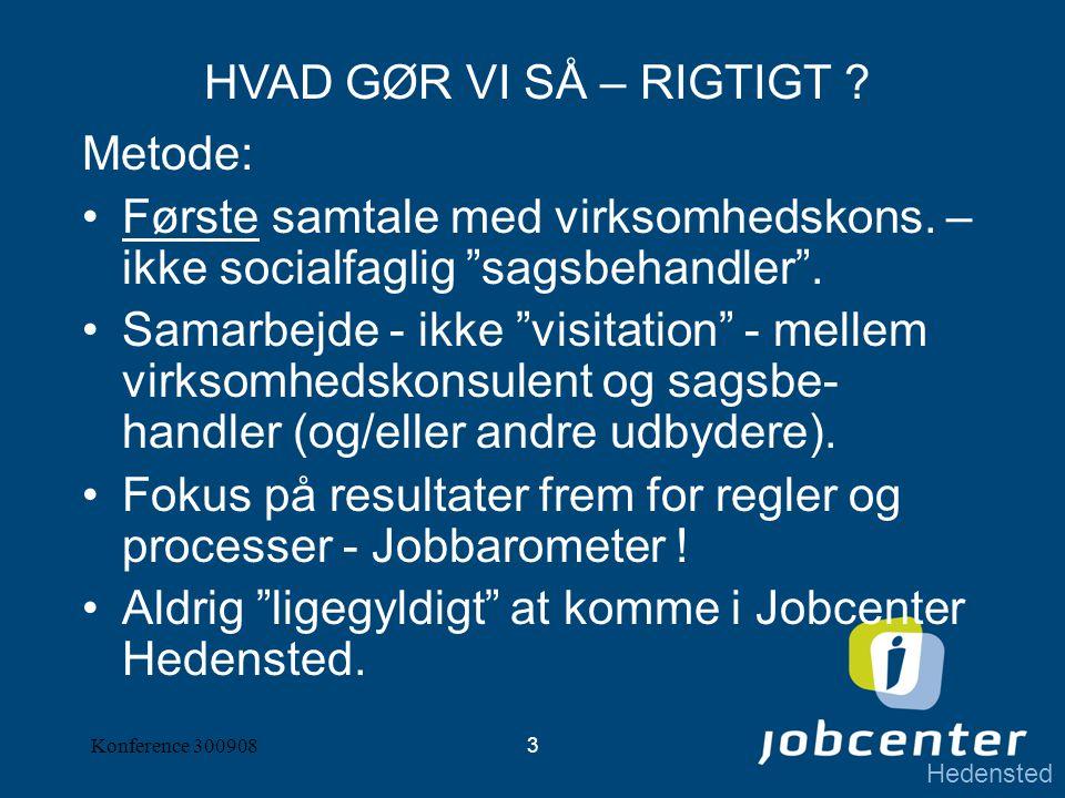 Hedensted Konference 3009083 Metode: Første samtale med virksomhedskons.