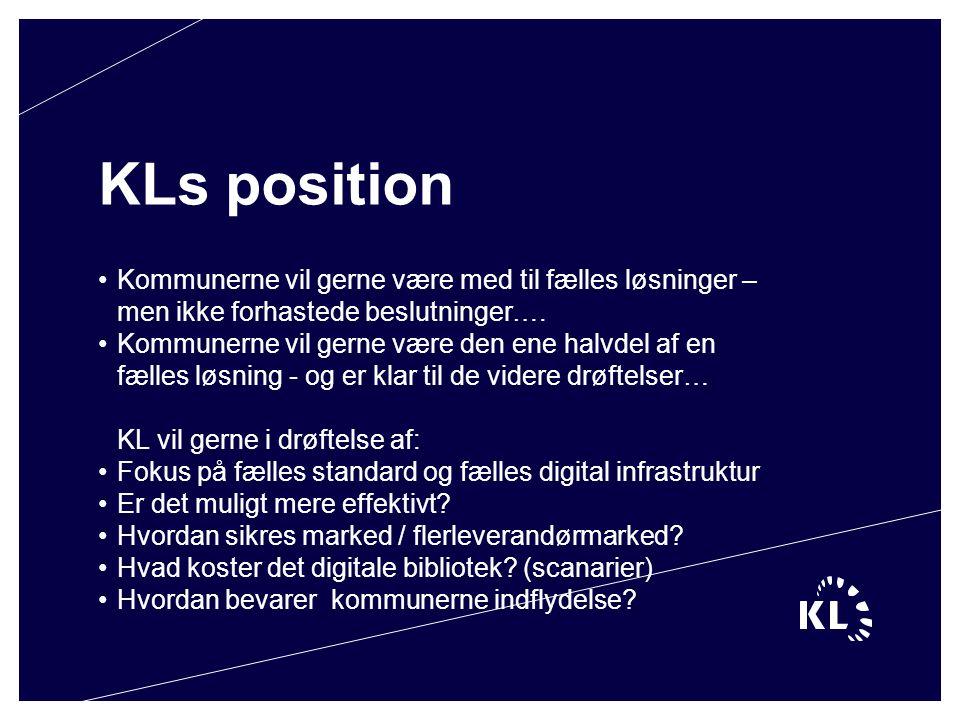 KLs position Kommunerne vil gerne være med til fælles løsninger – men ikke forhastede beslutninger….