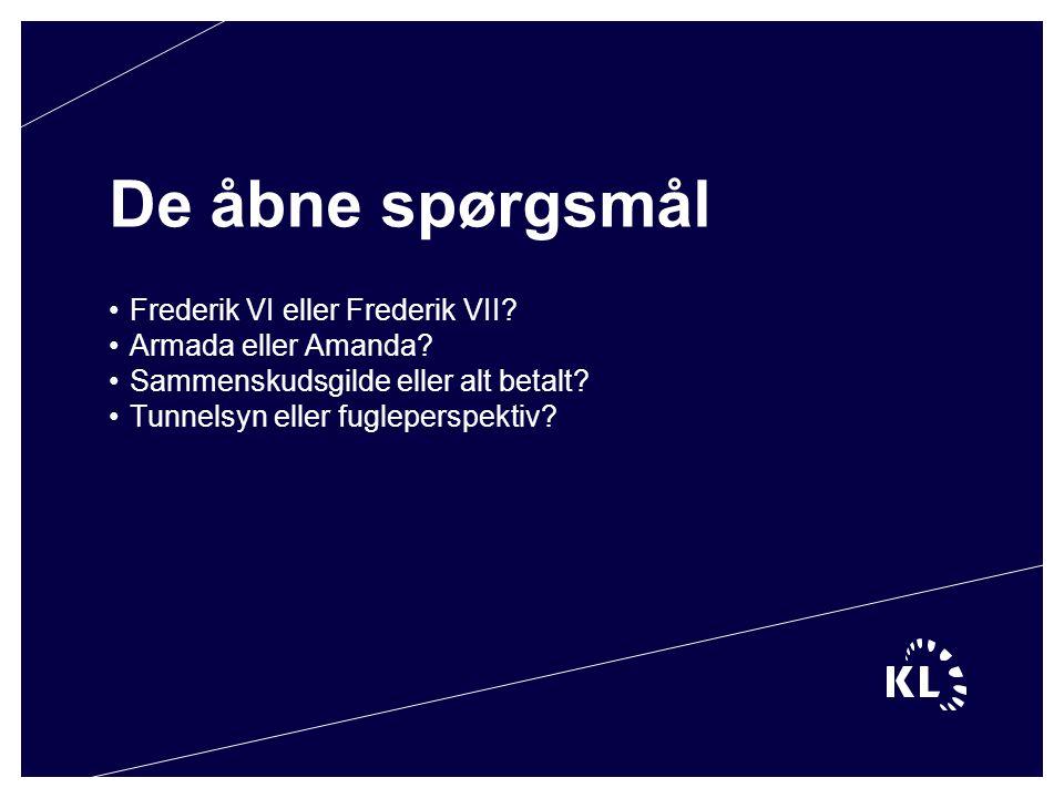 De åbne spørgsmål Frederik VI eller Frederik VII. Armada eller Amanda.