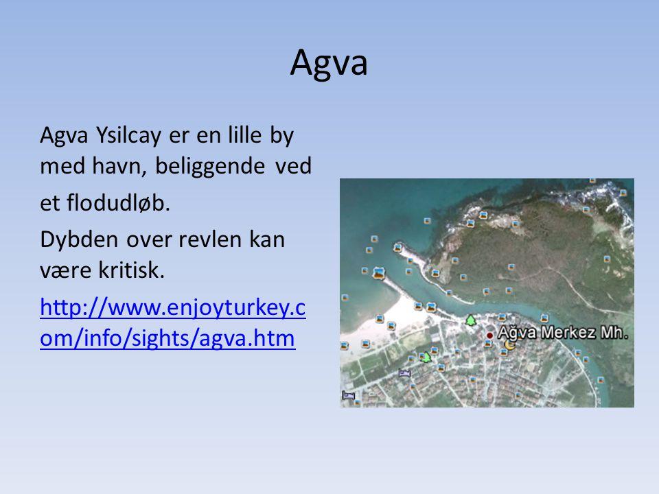Agva Agva Ysilcay er en lille by med havn, beliggende ved et flodudløb.