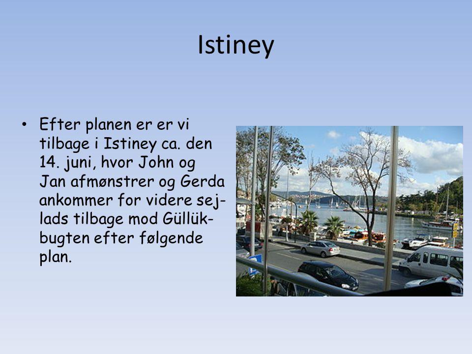 Istiney Efter planen er er vi tilbage i Istiney ca.