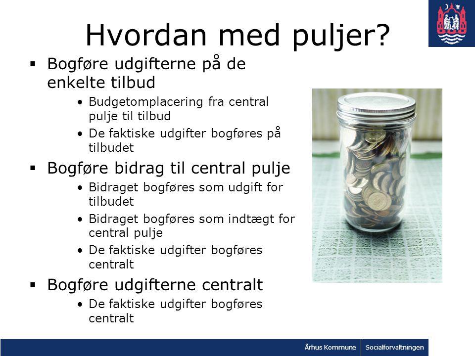 Århus KommuneSocialforvaltningen Hvordan med puljer.