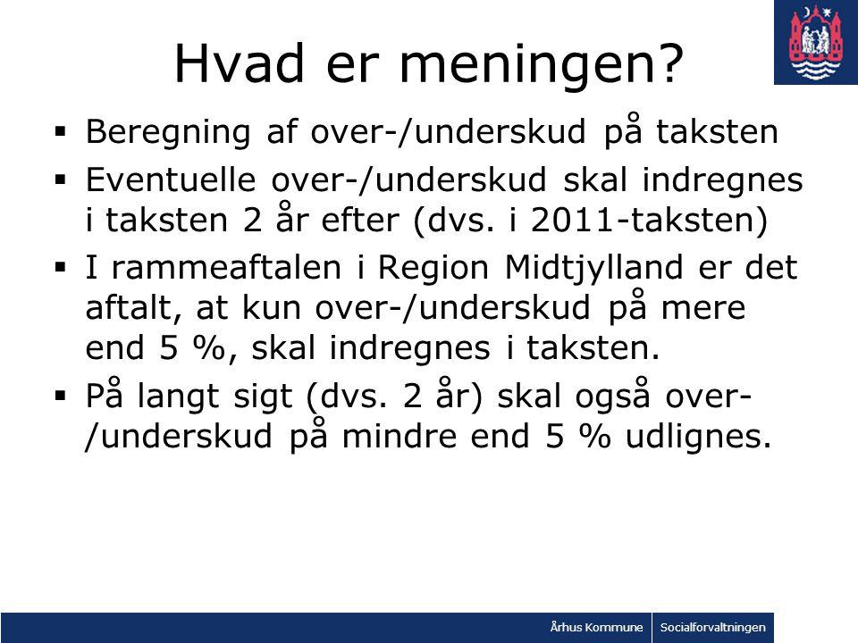 Århus KommuneSocialforvaltningen Hvad er meningen.