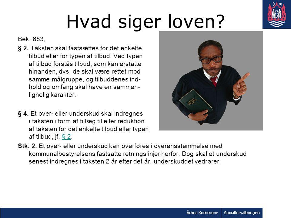 Århus KommuneSocialforvaltningen Hvad siger loven.