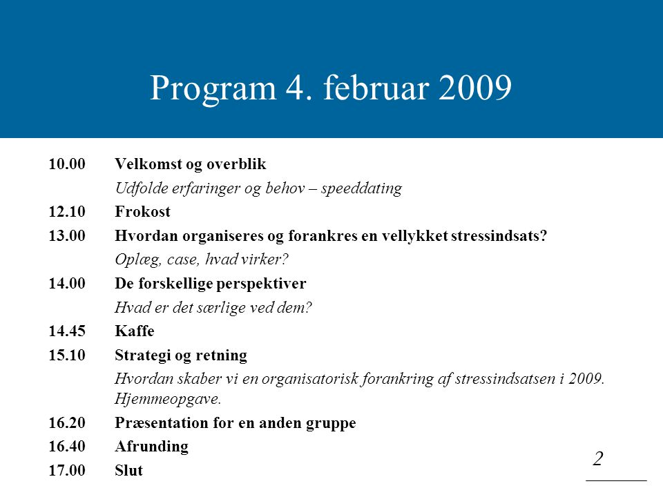 Klik for at redigere titeltypografi i masteren 2 Program 4.