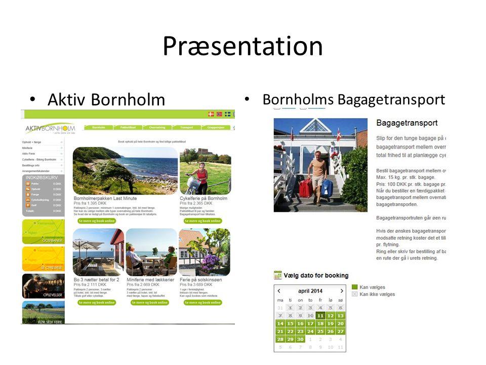 Præsentation Aktiv Bornholm Bornholms Bagagetransport