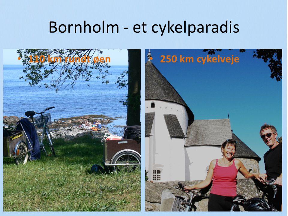 Bornholm - et cykelparadis 110 km rundt øen 250 km cykelveje
