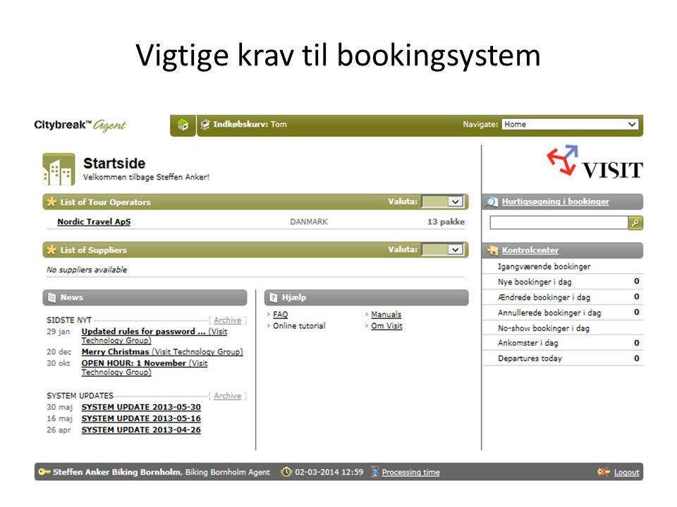 Vigtige krav til bookingsystem