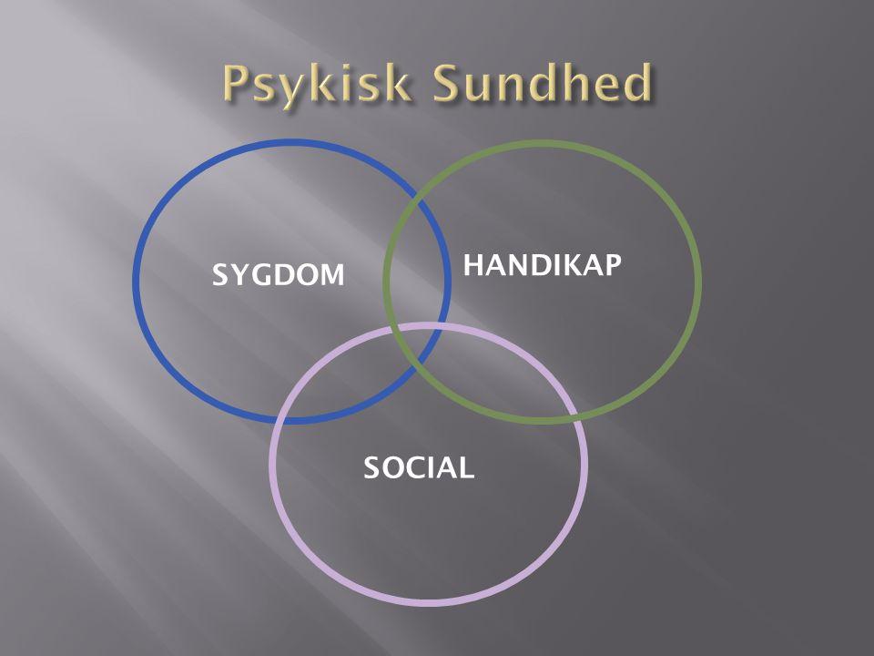 HANDIKAP SYGDOM SOCIAL