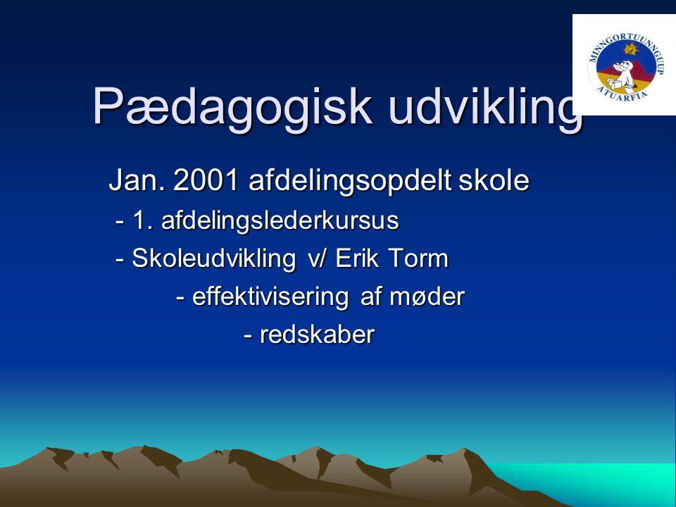 Pædagogisk udvikling Jan. 2001 afdelingsopdelt skole - 1.