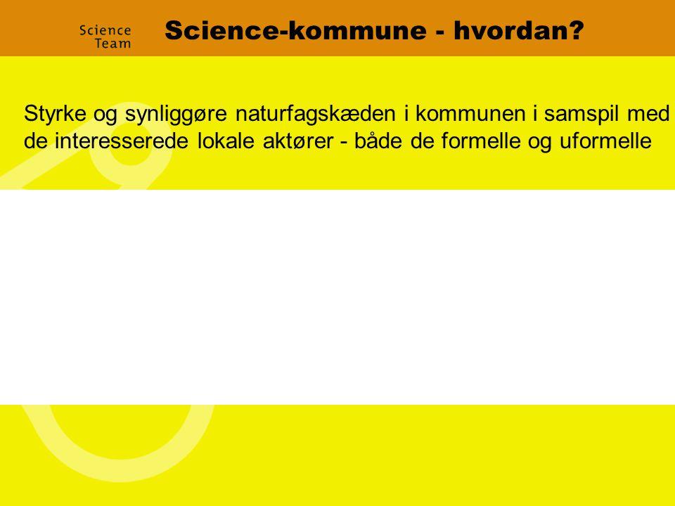 Science-kommune - hvordan.
