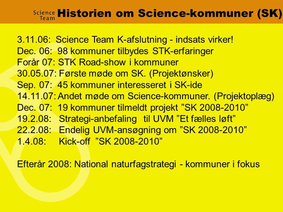 Historien om Science-kommuner (SK) 3.11.06: Science Team K-afslutning - indsats virker.