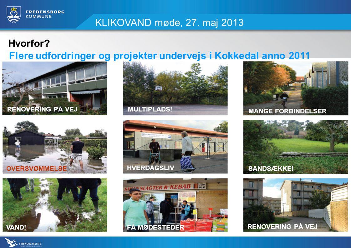 KLIKOVAND møde, 27. maj 2013 OVERSVØMMELSESANDSÆKKE.