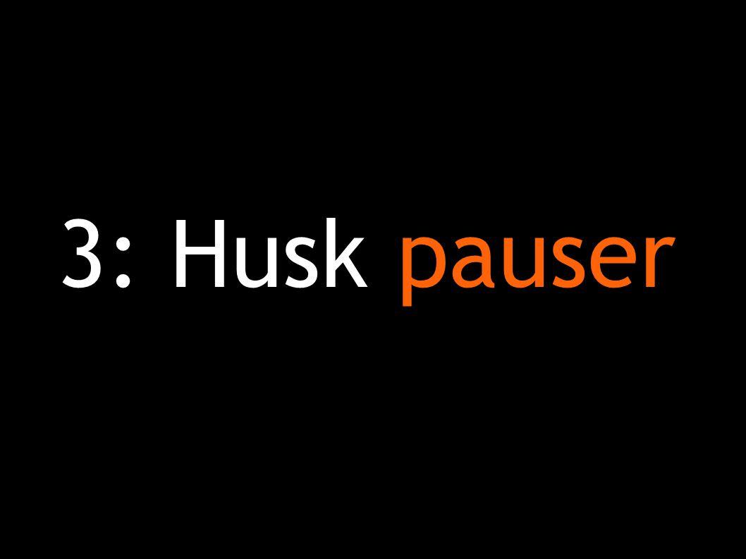 3: Husk pauser