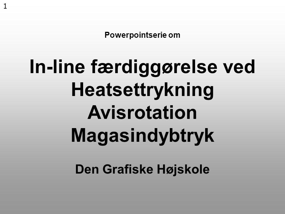 1 Powerpointserie om In-line færdiggørelse ved Heatsettrykning Avisrotation Magasindybtryk Den Grafiske Højskole