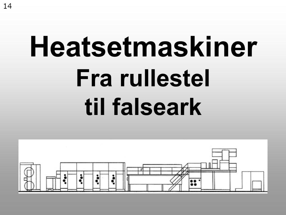 14 Heatsetmaskiner Fra rullestel til falseark