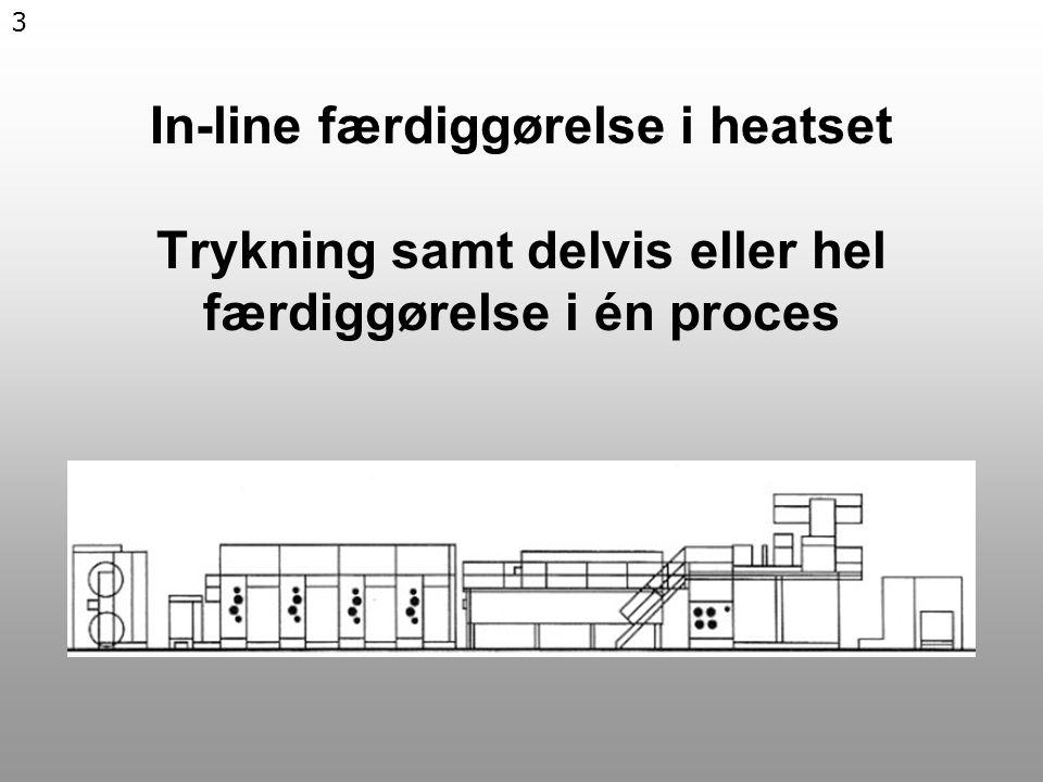 3 In-line færdiggørelse i heatset Trykning samt delvis eller hel færdiggørelse i én proces
