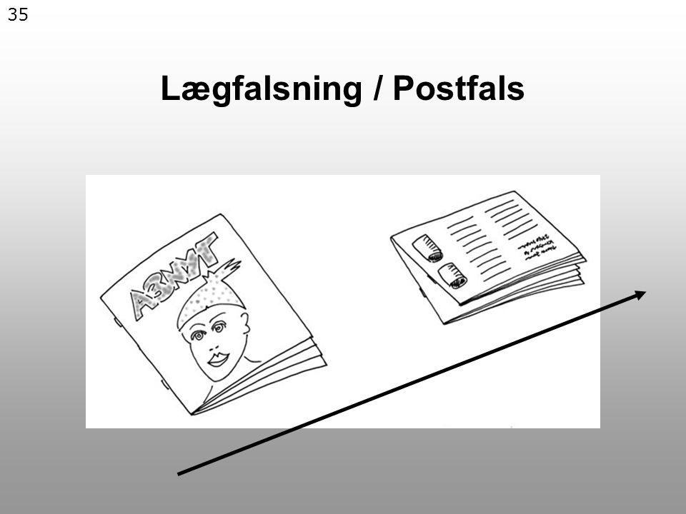 35 Lægfalsning / Postfals