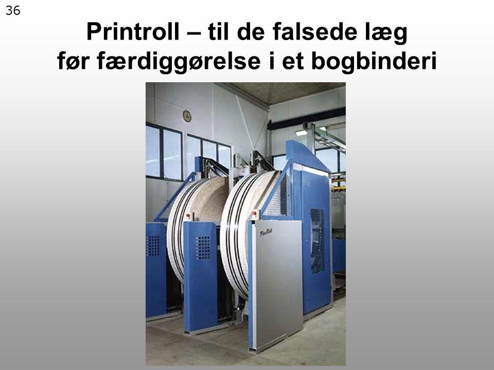 36 Printroll – til de falsede læg før færdiggørelse i et bogbinderi