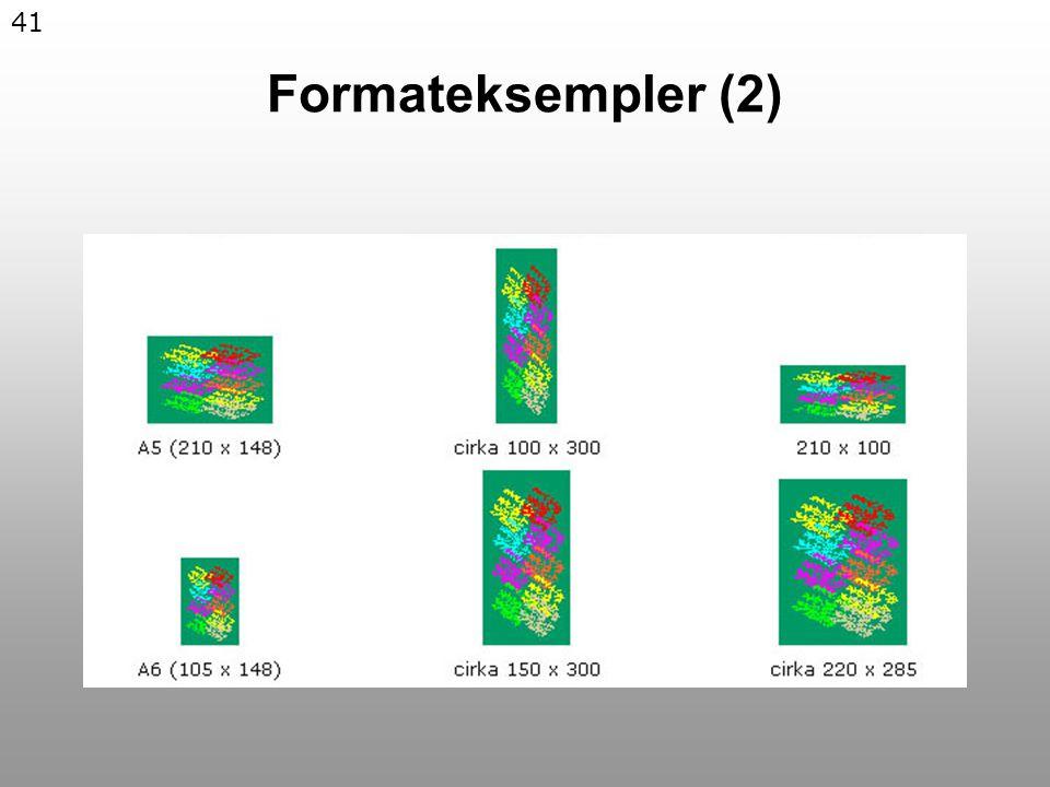 41 Formateksempler (2)