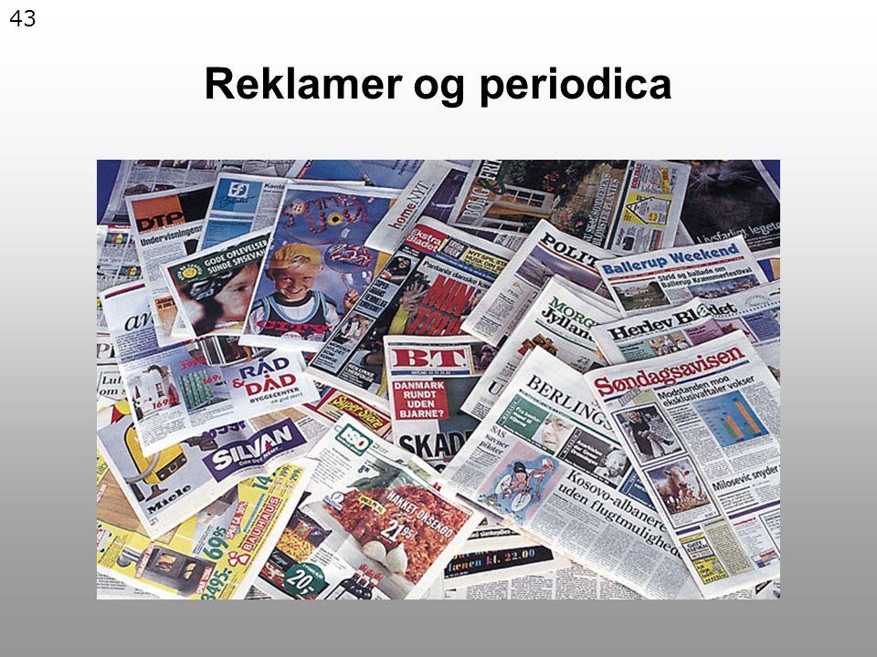 43 Reklamer og periodica