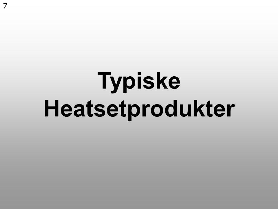 7 Typiske Heatsetprodukter