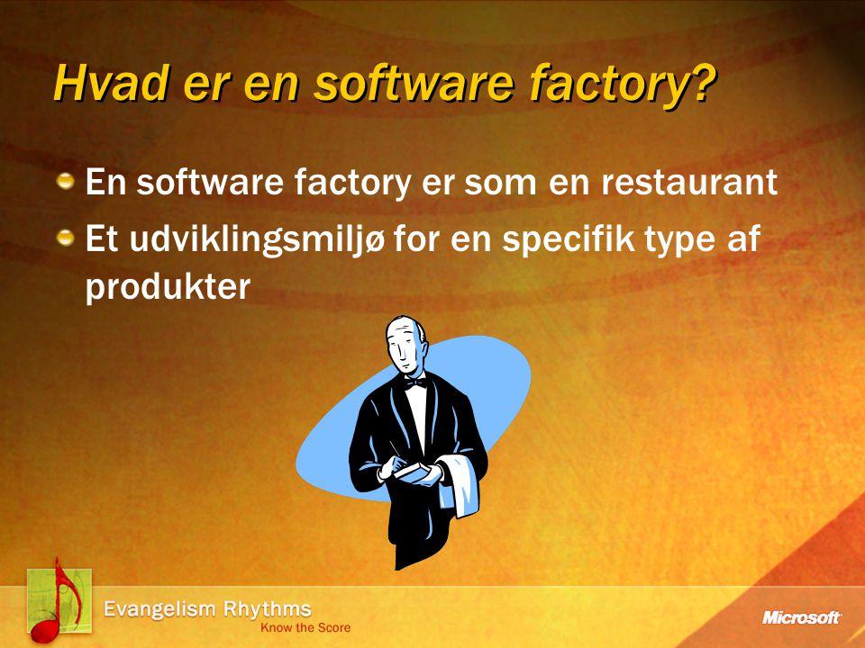 Hvad er en software factory.