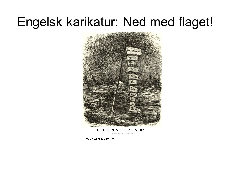 Engelsk karikatur: Ned med flaget!