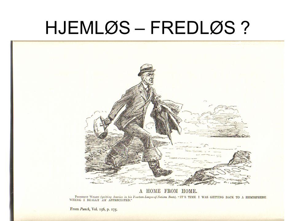 HJEMLØS – FREDLØS