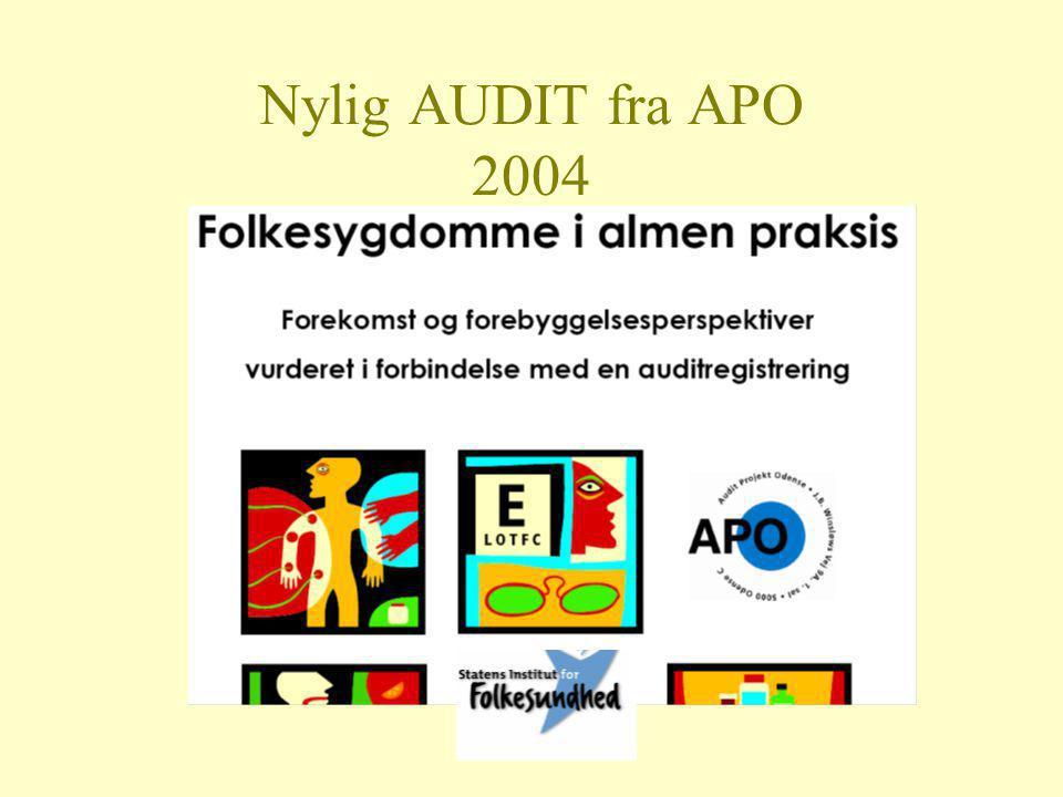 Nylig AUDIT fra APO 2004