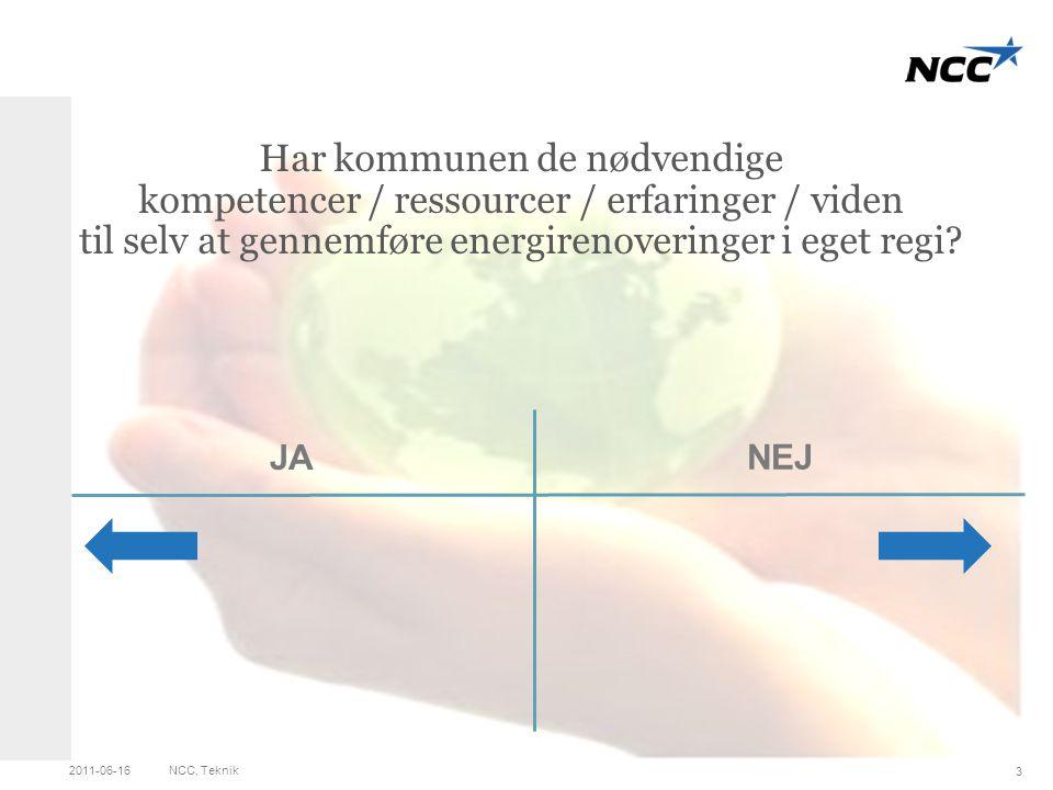 Three left pictures Click on the picture icon to change photo JA Har kommunen de nødvendige kompetencer / ressourcer / erfaringer / viden til selv at gennemføre energirenoveringer i eget regi.