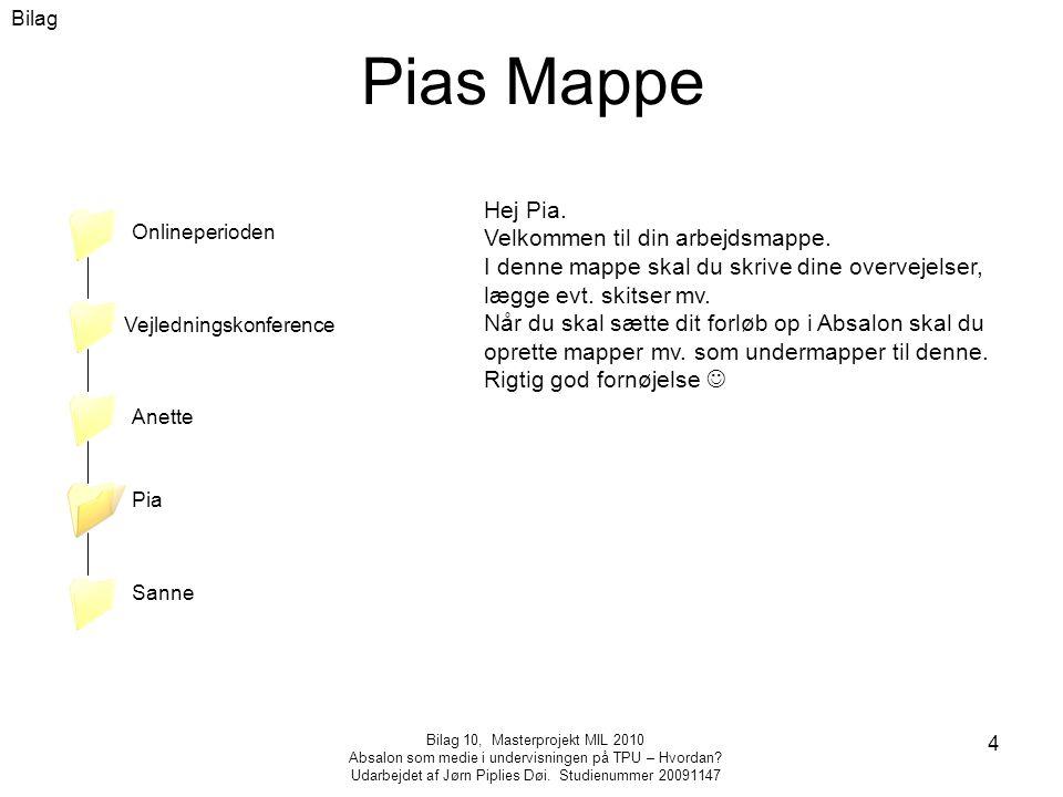 Bilag 10, Masterprojekt MIL 2010 Absalon som medie i undervisningen på TPU – Hvordan.
