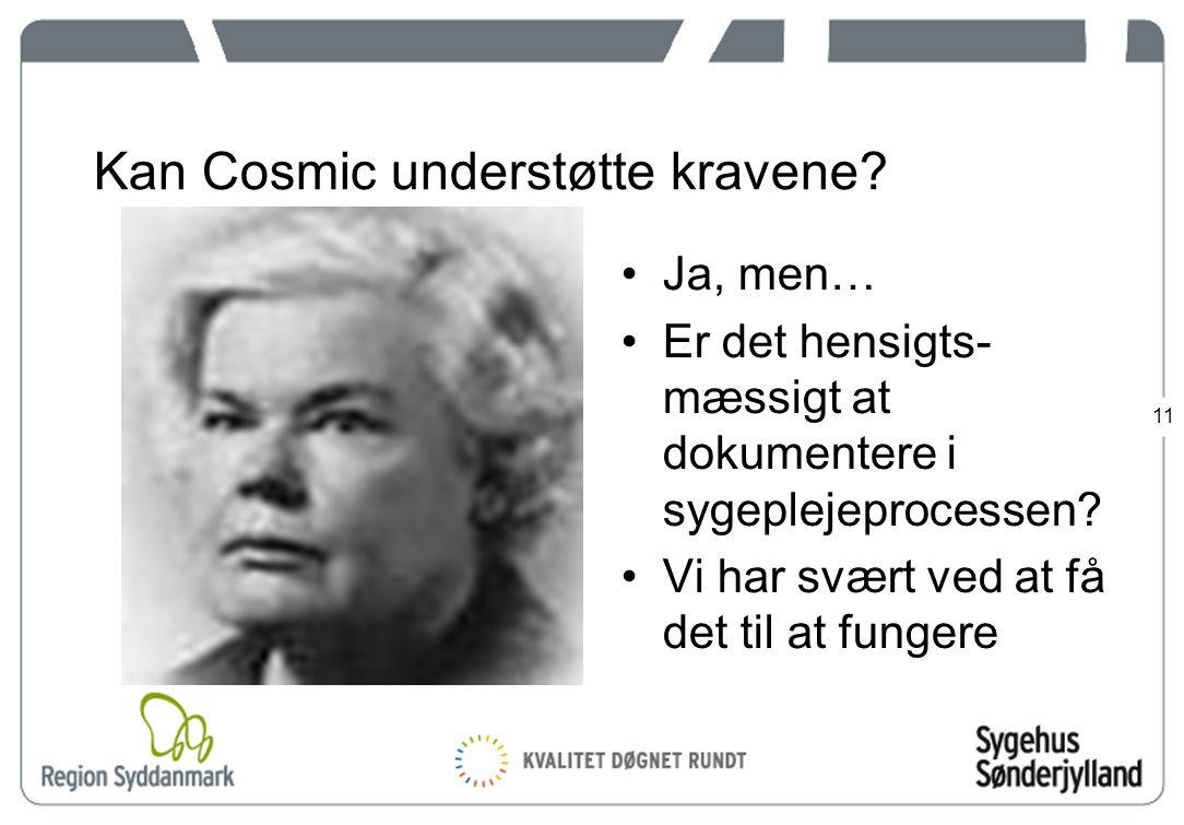 11 Kan Cosmic understøtte kravene.