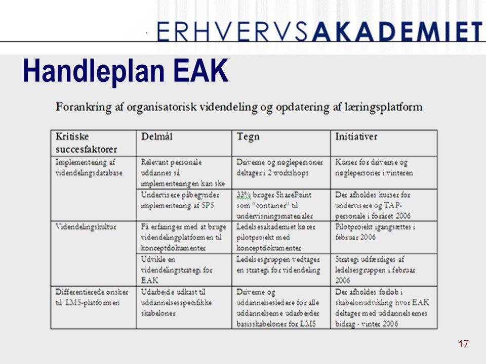 17 Handleplan EAK