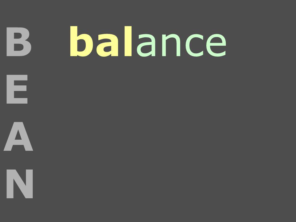 balanceBEANBEAN