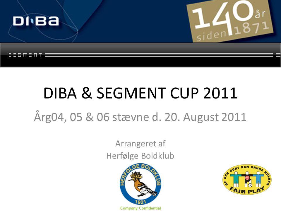 Company Confidential DIBA & SEGMENT CUP 2011 Årg04, 05 & 06 stævne d.