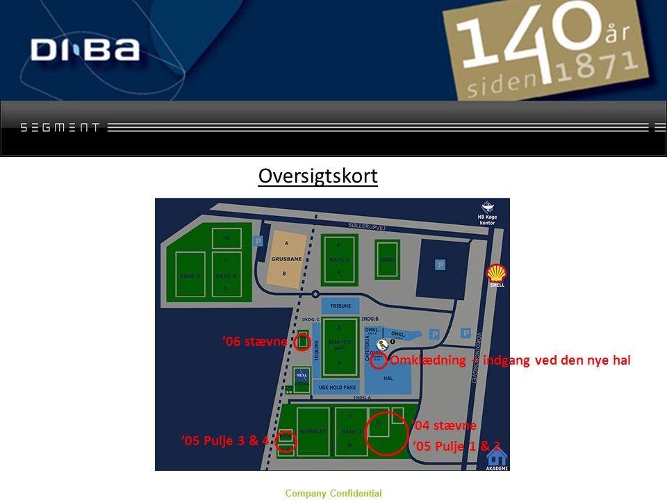 Company Confidential Omklædning – indgang ved den nye hal '04 stævne Oversigtskort '06 stævne '05 Pulje 1 & 2 '05 Pulje 3 & 4